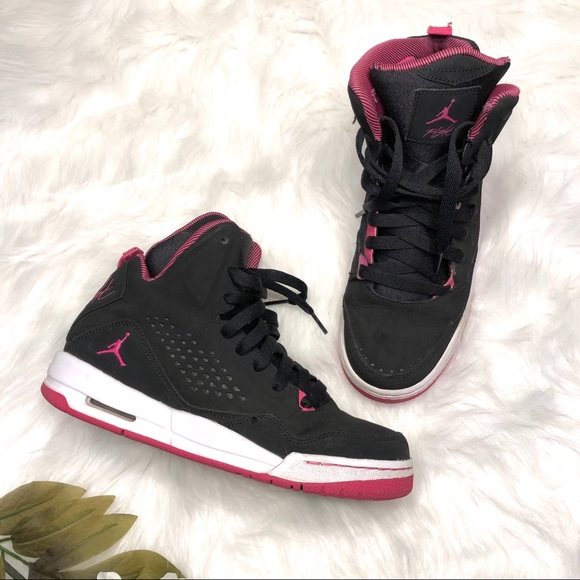 4b0aa70620a4 Jordan Other - Nike Air Jordan Flight SC3 Black Pink 7Y 8.5 Women